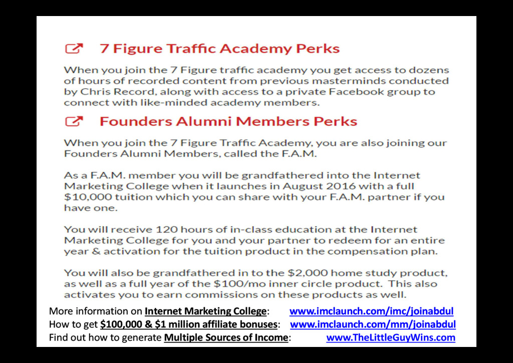 More information on Internet Marketing College:...