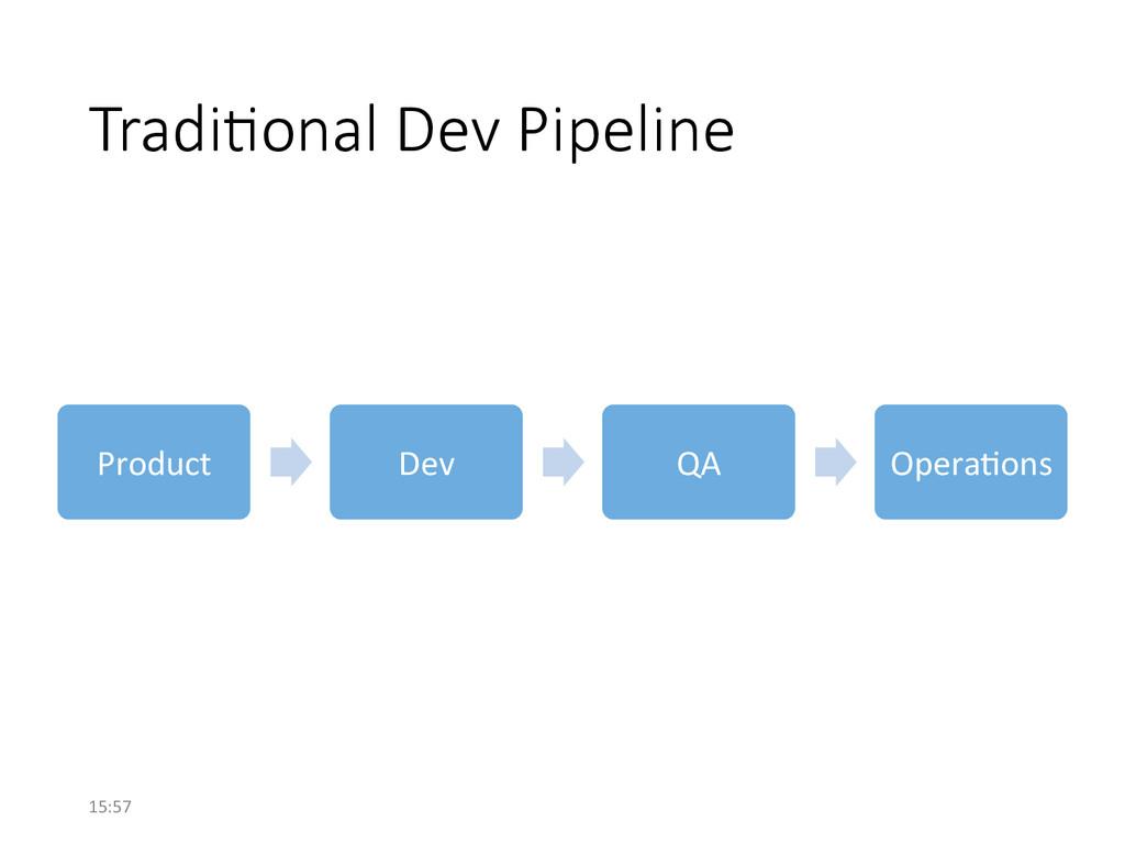 Tradi/onal Dev Pipeline Product  Dev  ...