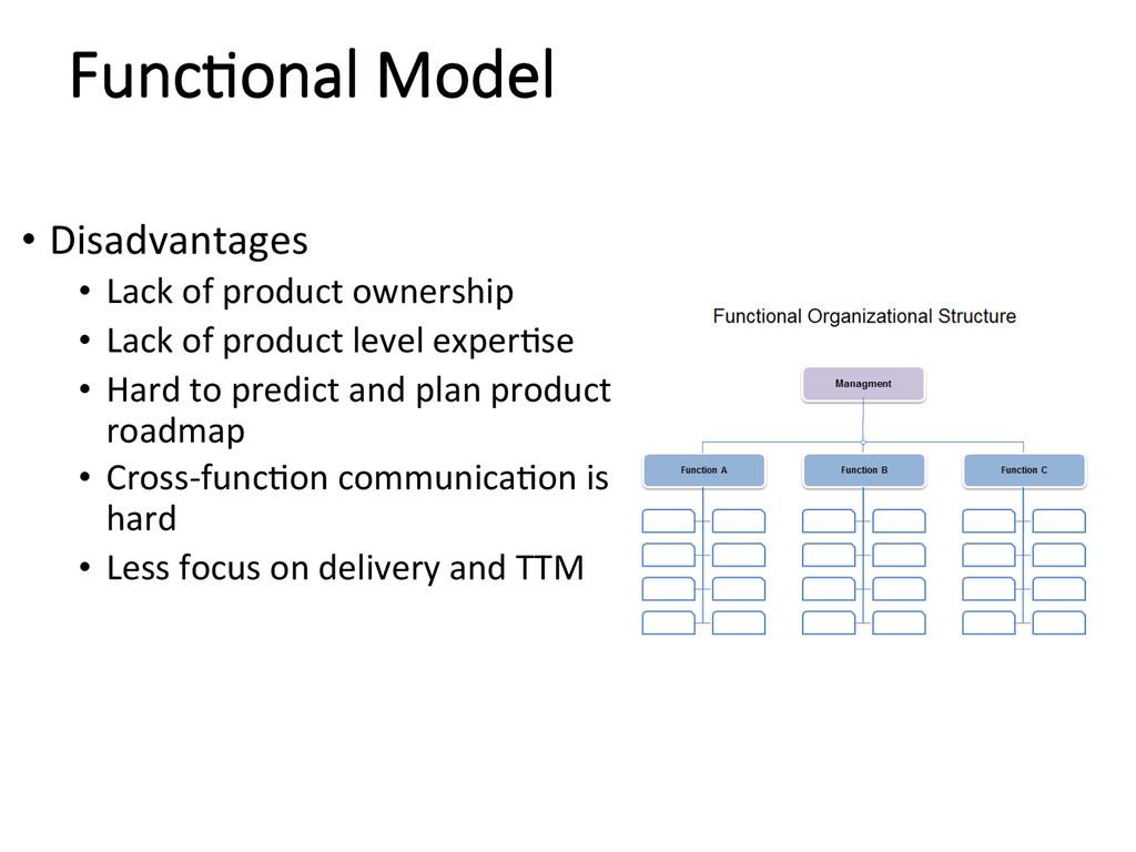 Func/onal Model • Disadvantages  • Lack...