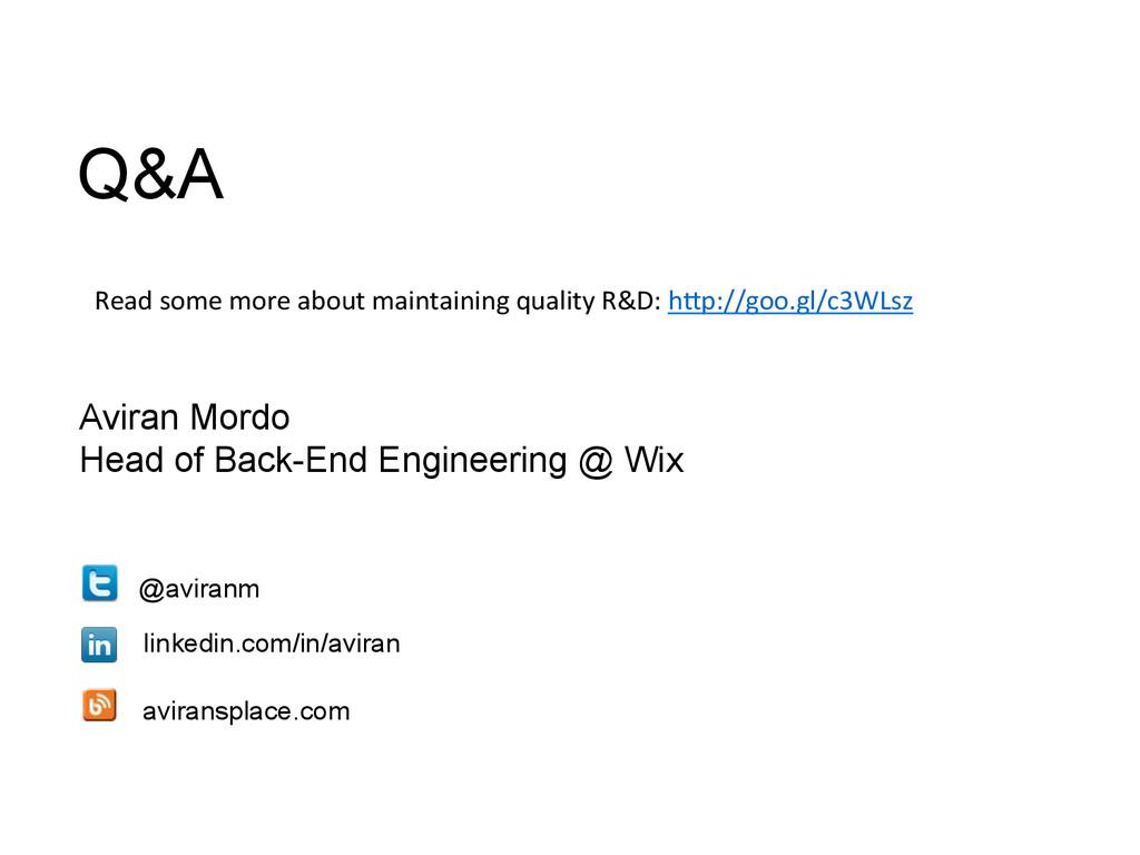 Aviran Mordo Head of Back-End Engineering @ Wix...