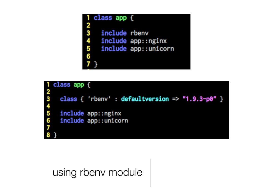 using rbenv module