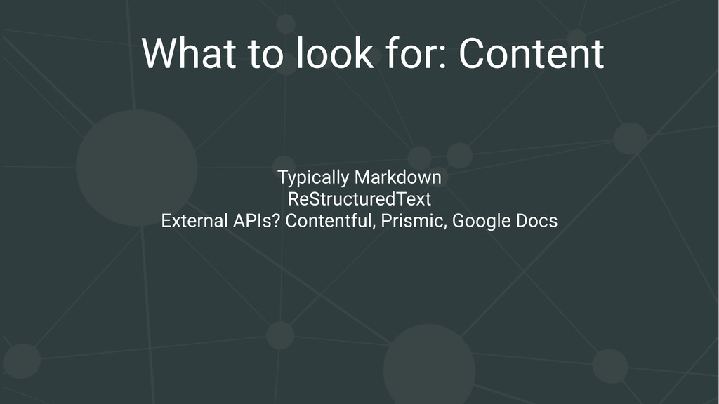 What to look for: Content Typically Markdown Re...