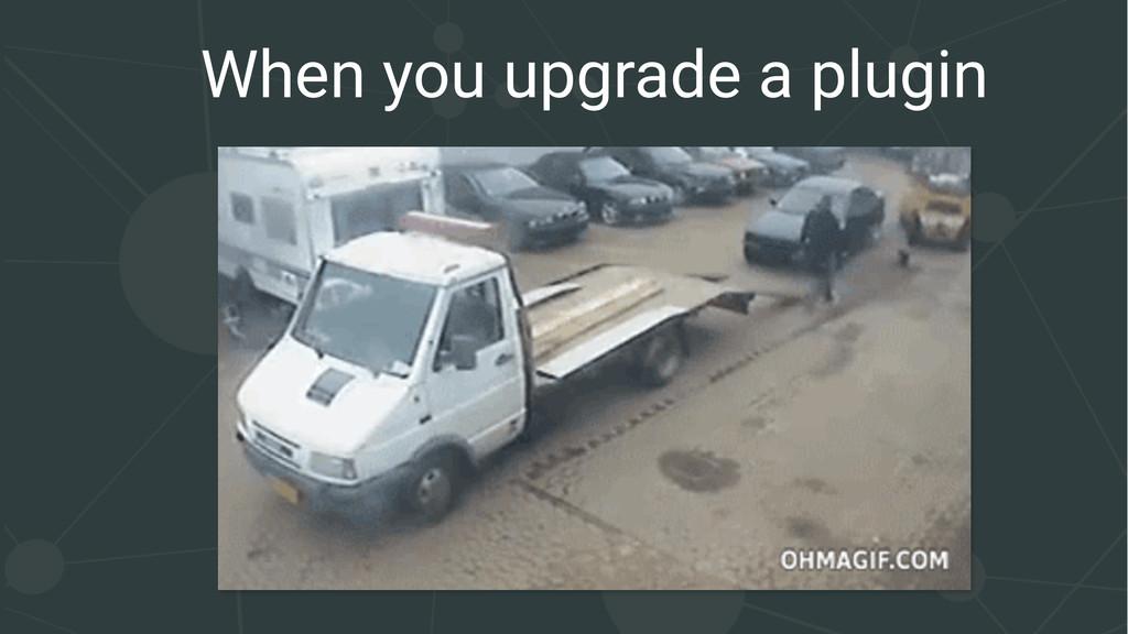 When you upgrade a plugin