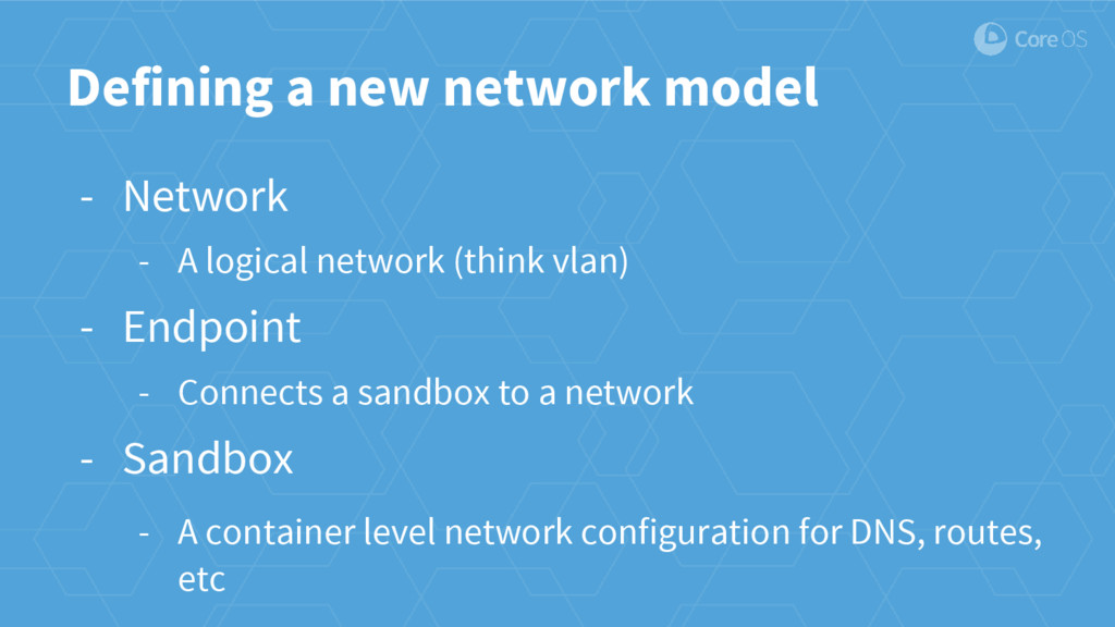 Defining a new network model - Network - A logi...