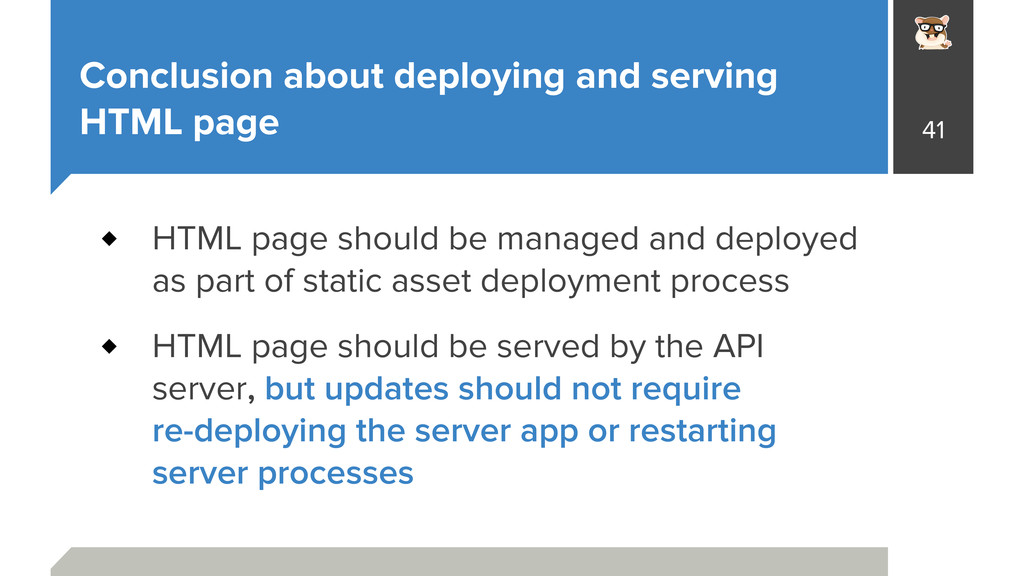 Conclusion about deploying and serving HTML pag...