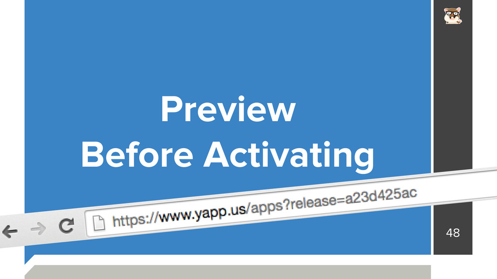48 Preview Before Activating