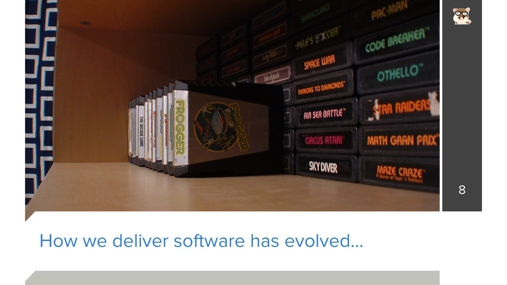 How we deliver software has evolved… 8