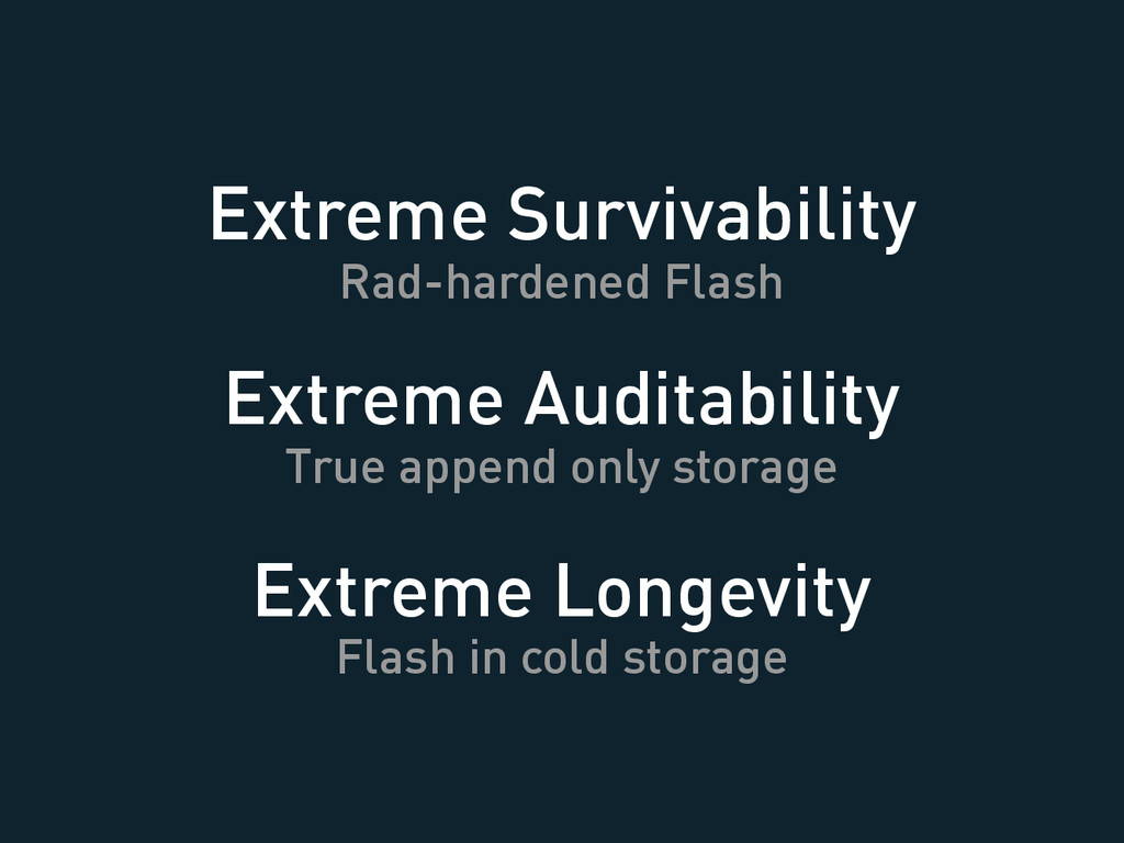 Extreme Longevity Flash in cold storage Extreme...