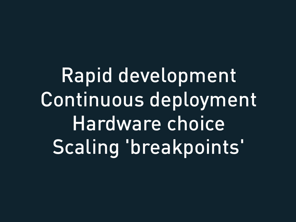 Rapid development Continuous deployment Hardwar...