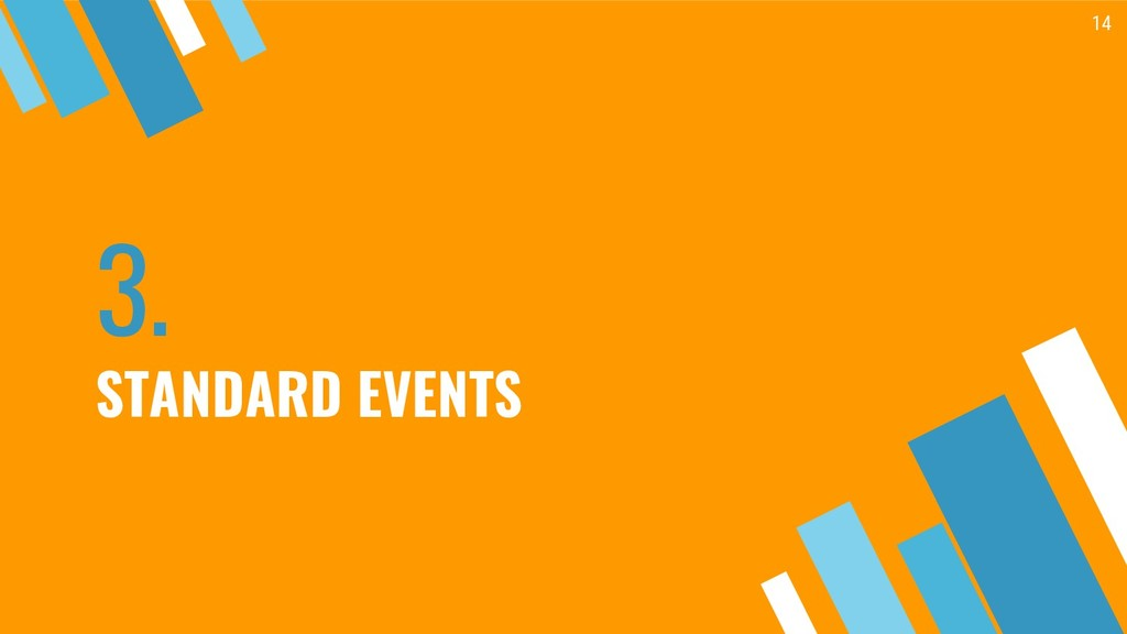 3. STANDARD EVENTS 14