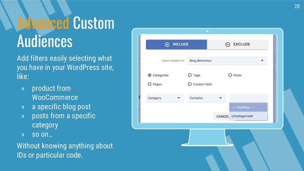 Place your screenshot here Advanced Custom Audi...