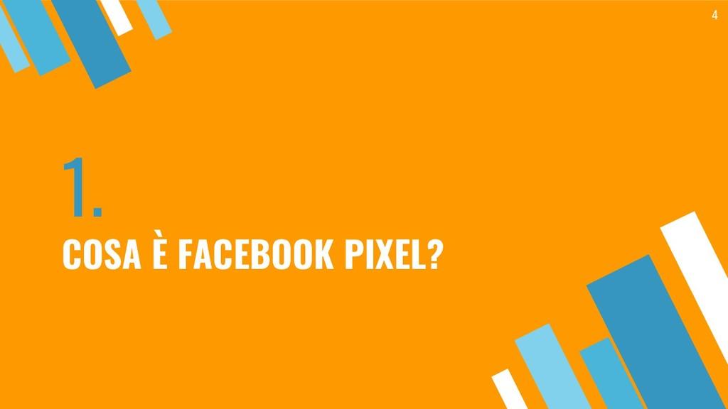 1. COSA È FACEBOOK PIXEL? 4