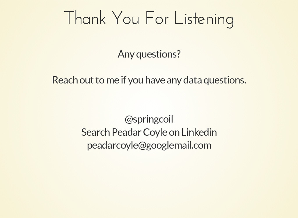 Thank You For Listening Thank You For Listening...