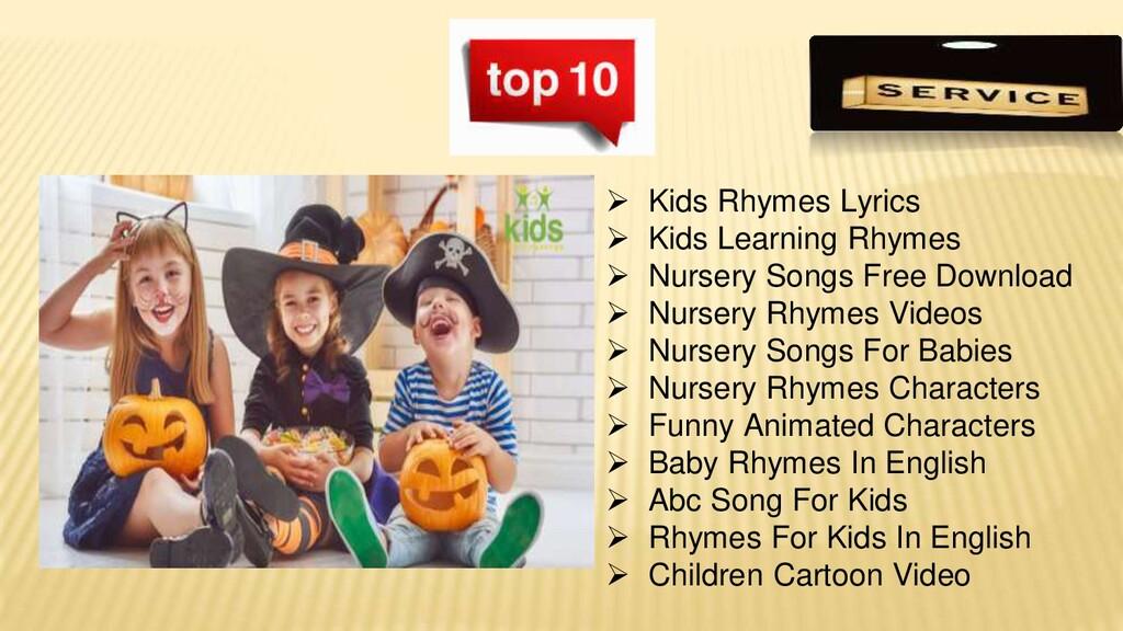  Kids Rhymes Lyrics  Kids Learning Rhymes  N...