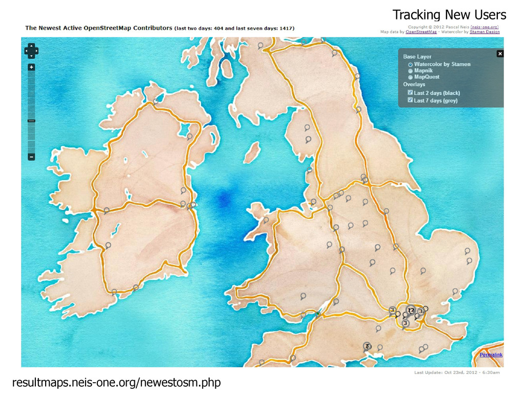 Tracking New Users resultmaps.neis-one.org/newe...