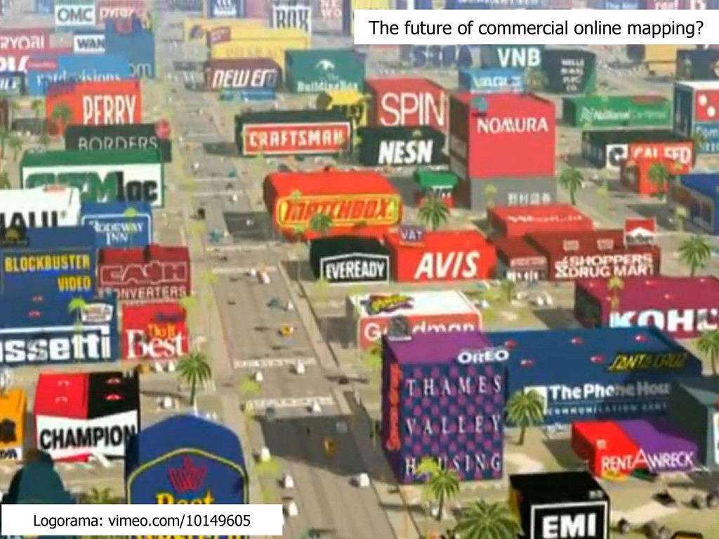 The future of commercial online mapping? Logora...