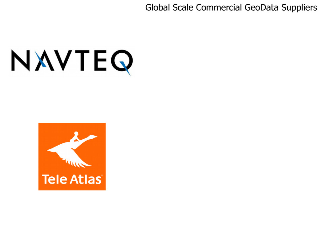 Global Scale Commercial GeoData Suppliers