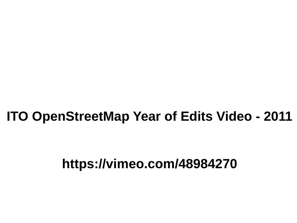ITO OpenStreetMap Year of Edits Video - 2011 ht...
