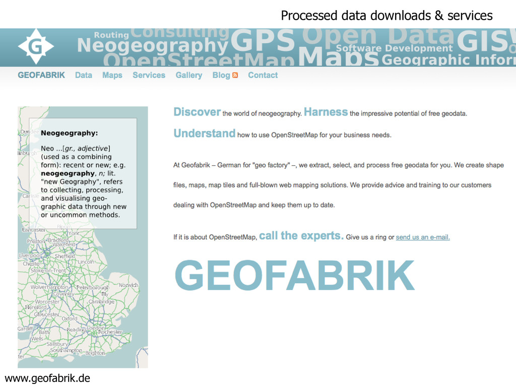 Processed data downloads & services www.geofabr...