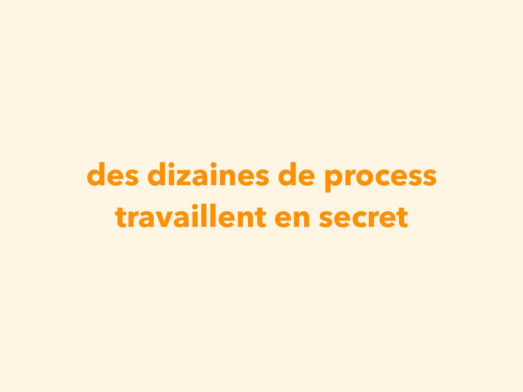 des dizaines de process travaillent en secret