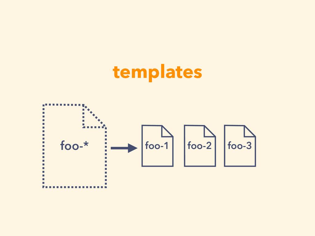 templates foo-* foo-1 foo-2 foo-3