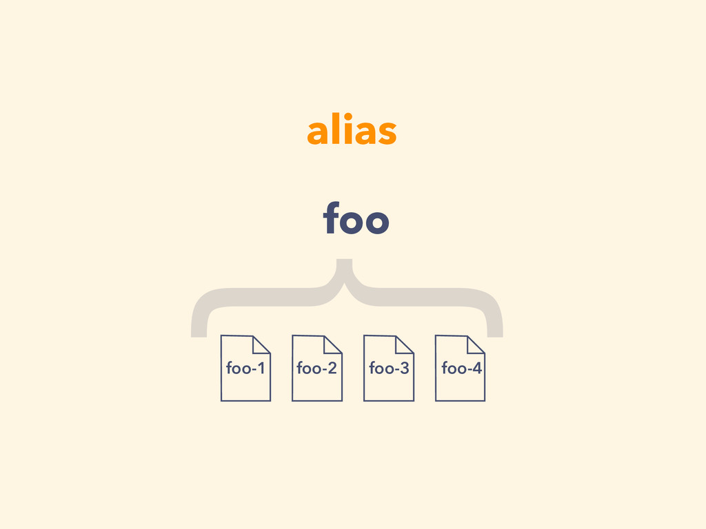 alias foo-1 foo-2 foo-3 foo-4 { foo