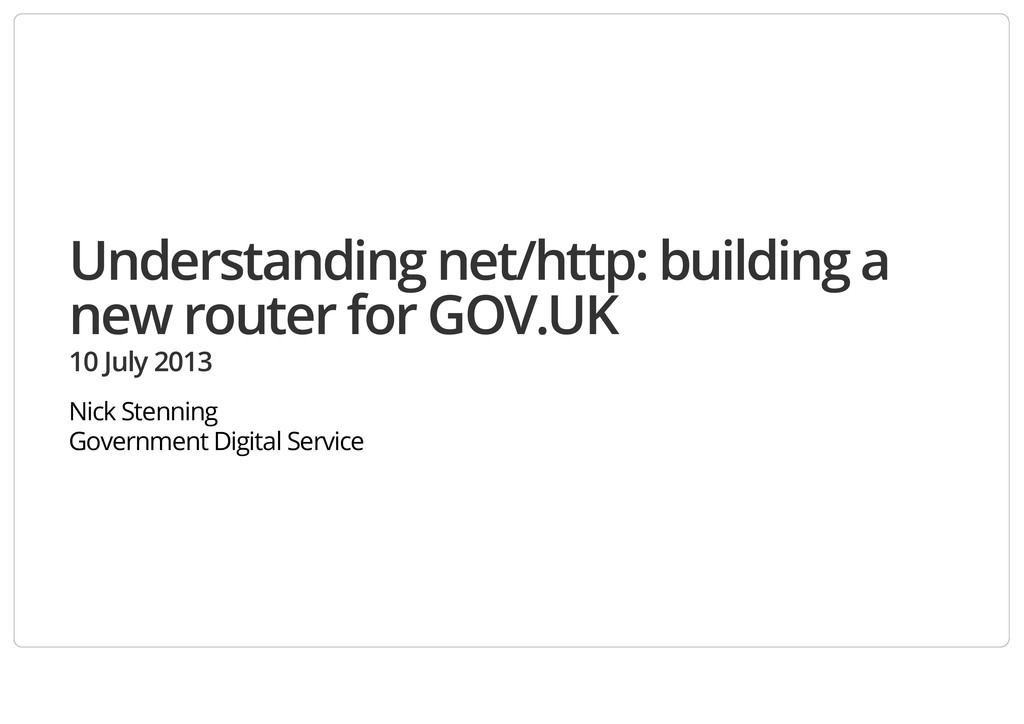 Understanding net/http: building a new router f...