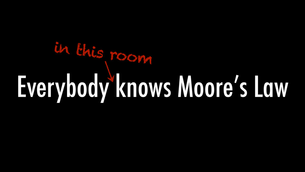 Everybody knows Moore's Law in this room
