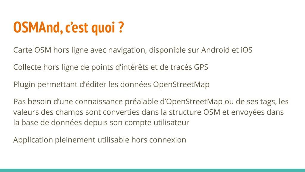 OSMAnd, c'est quoi ? Carte OSM hors ligne avec ...