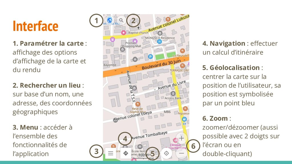 Interface 4. Navigation : effectuer un calcul d'...