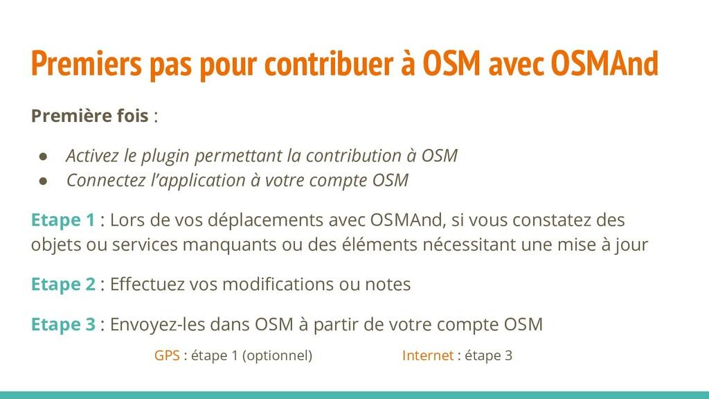 Premiers pas pour contribuer à OSM avec OSMAnd ...