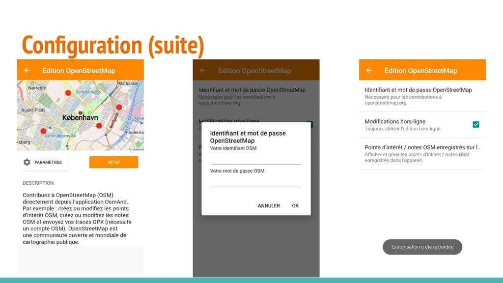 Configuration (suite)