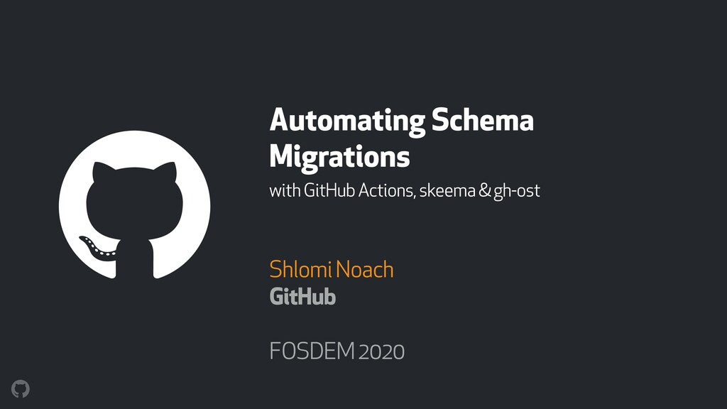 Automating Schema Migrations with GitHub Action...
