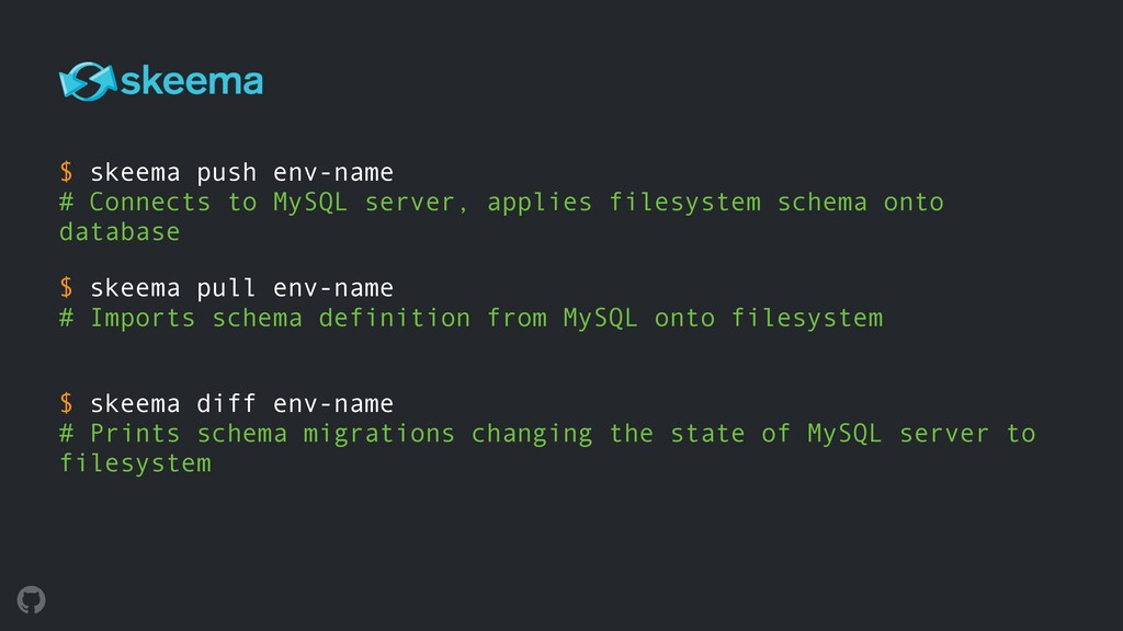 $ skeema push env-name