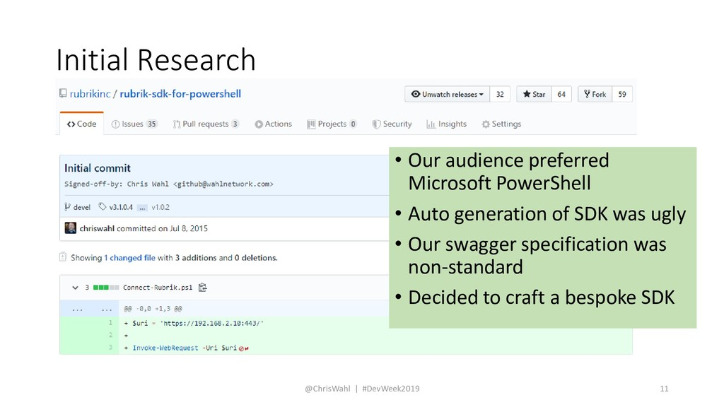 Initial Research • Our audience preferred Micro...