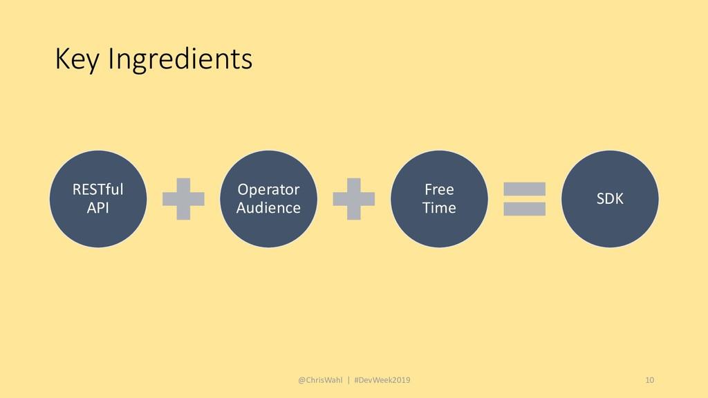 Key Ingredients @ChrisWahl | #DevWeek2019 10 RE...