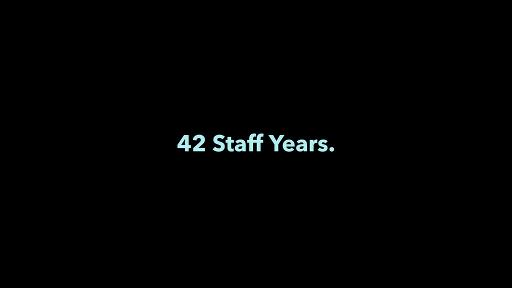42 Staff Years.
