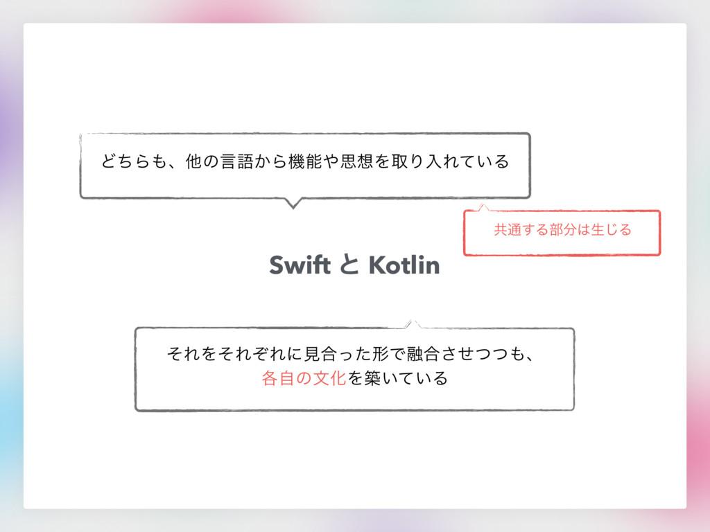 Swift ͱ Kotlin ͲͪΒɺଞͷݴޠ͔ΒػࢥΛऔΓೖΕ͍ͯΔ ͦΕΛͦΕͧΕ...
