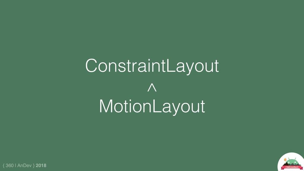 { 360 | AnDev } 2018 MotionLayout ConstraintLay...