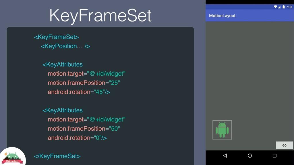 KeyFrameSet <KeyFrameSet> <KeyPosition… /> <Key...