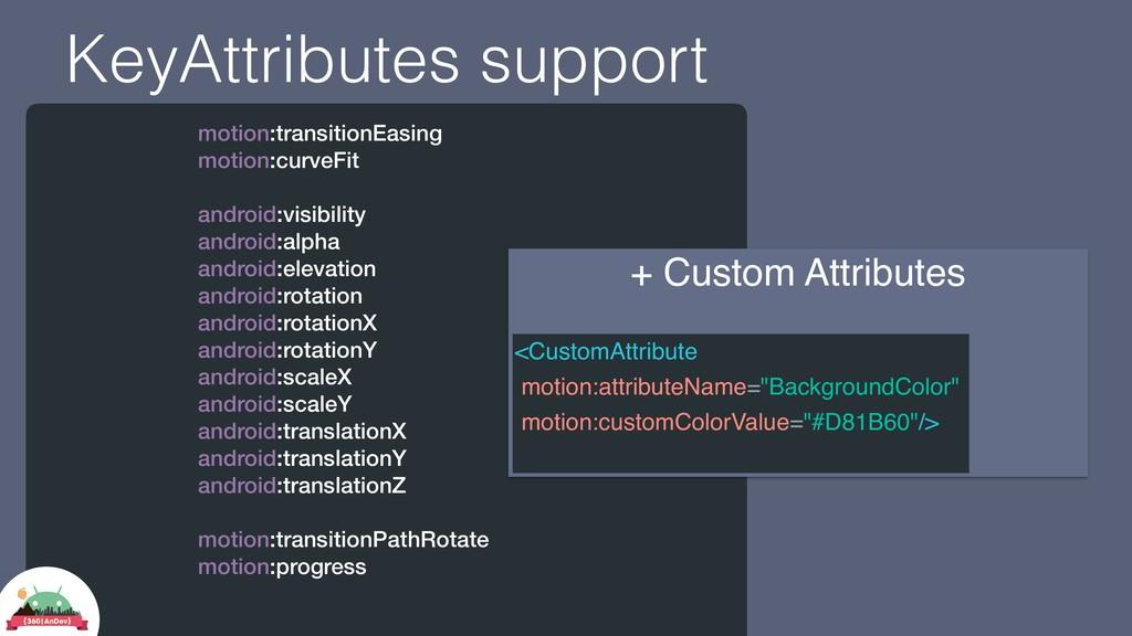 KeyAttributes support motion:transitionEasing m...