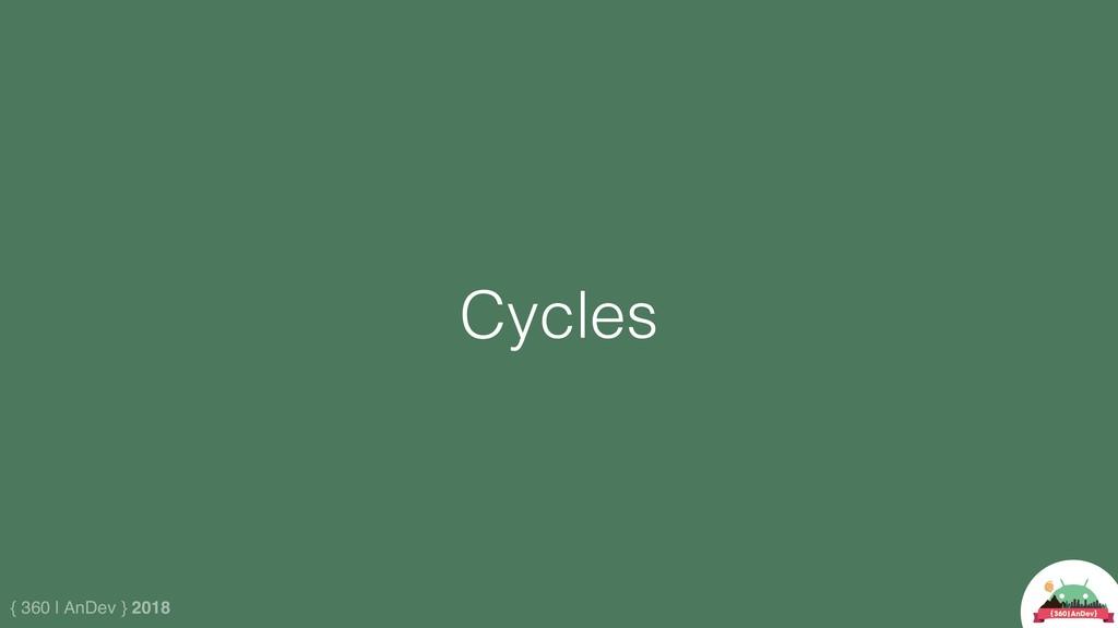 { 360 | AnDev } 2018 Cycles