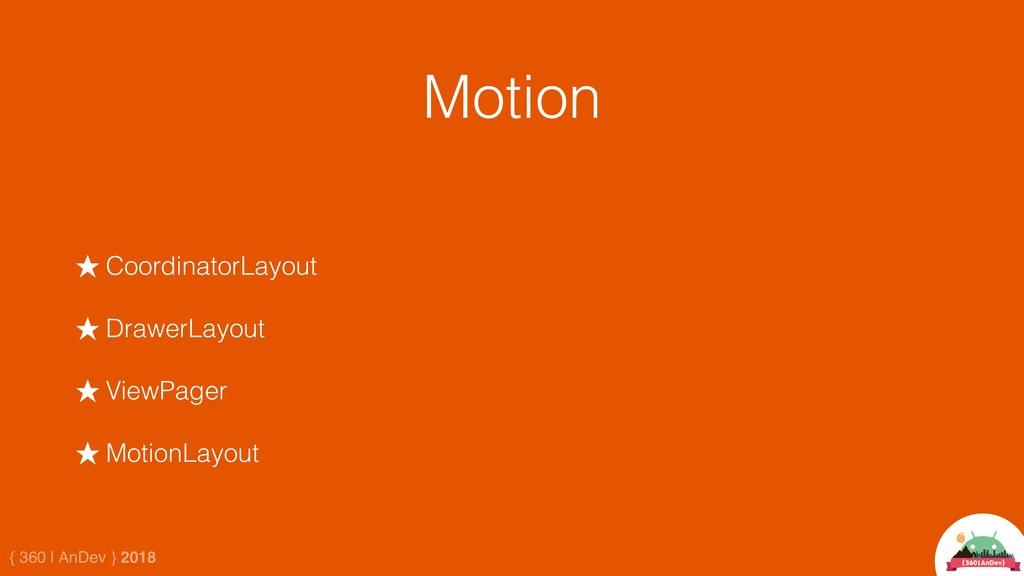 { 360 | AnDev } 2018 Motion ★ CoordinatorLayout...