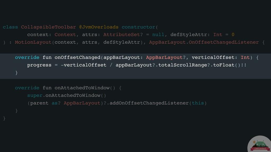 class CollapsibleToolbar @JvmOverloads construc...