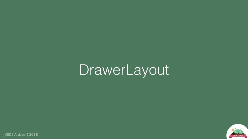 { 360 | AnDev } 2018 DrawerLayout