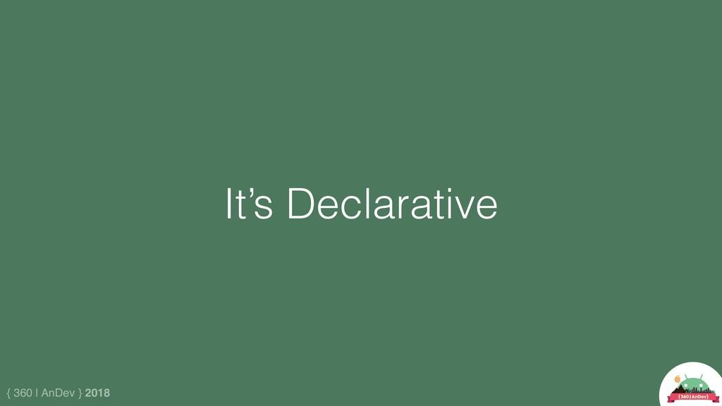 { 360 | AnDev } 2018 It's Declarative