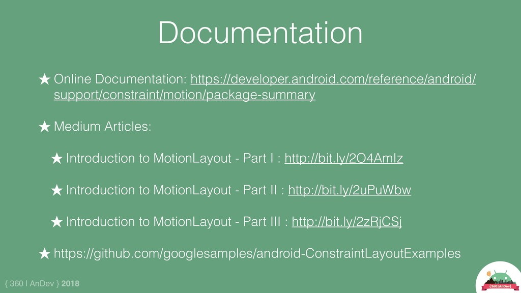 { 360 | AnDev } 2018 Documentation ★ Online Doc...