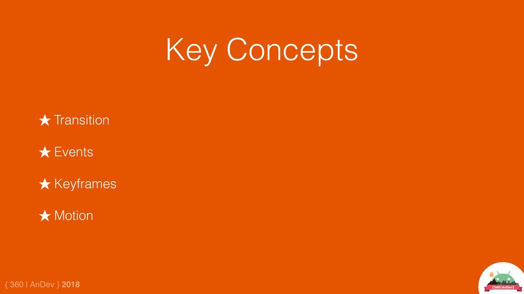 { 360 | AnDev } 2018 Key Concepts ★ Transition ...