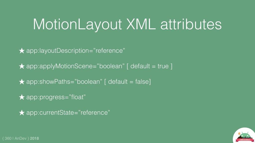 { 360 | AnDev } 2018 MotionLayout XML attribute...