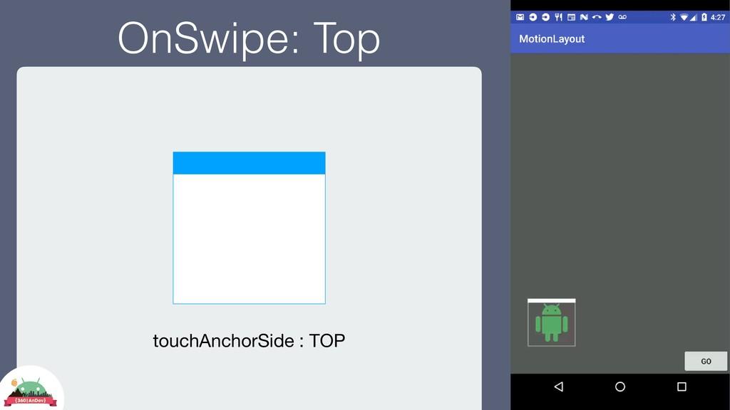 OnSwipe: Top touchAnchorSide : TOP